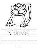 Monkey Worksheet