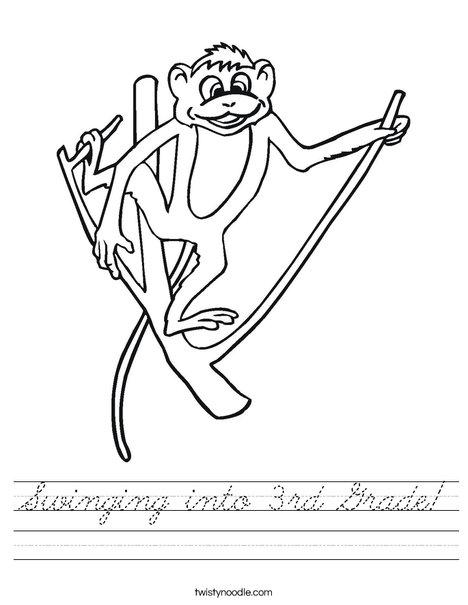 Monkey on a Branch Worksheet