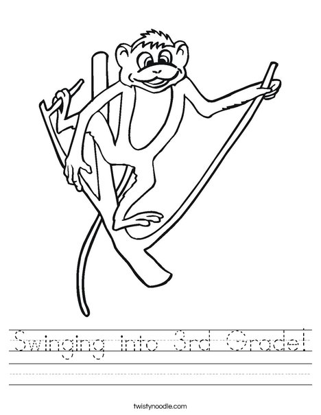 Monkey on a Branch Worksheet