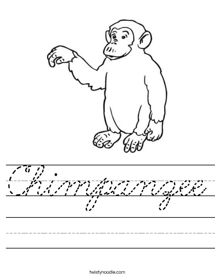 Chimpanzee Worksheet