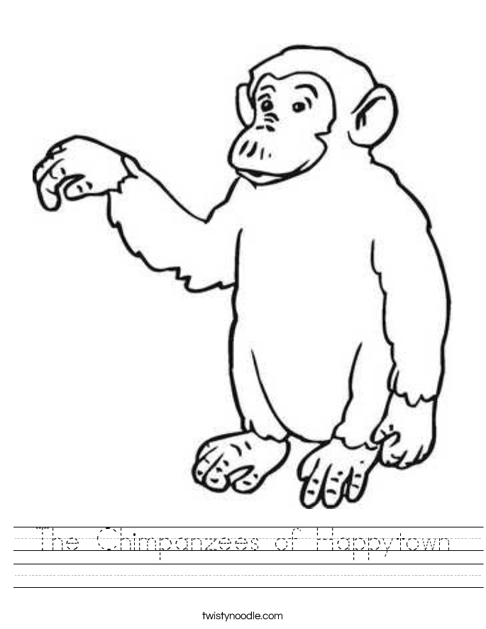 The Chimpanzees of Happytown Worksheet