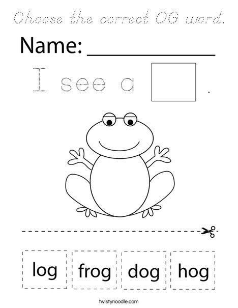 Choose the correct OG word. Coloring Page