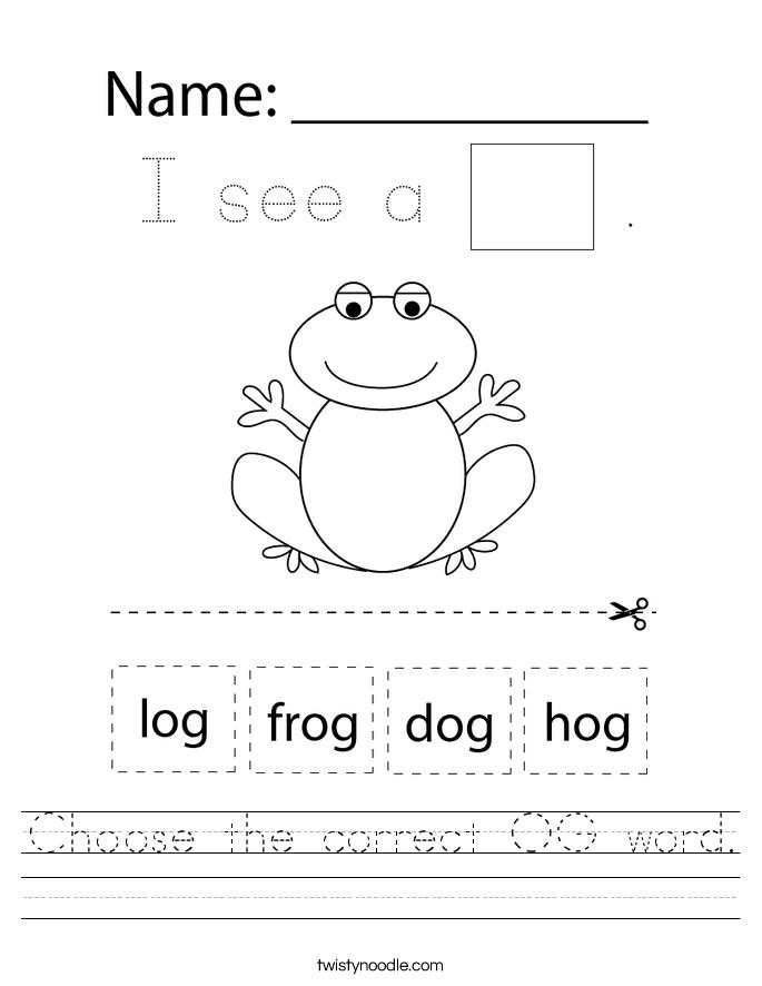 Choose the correct OG word. Worksheet