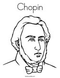 Chopin Coloring Page