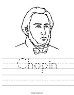 Chopin Handwriting Sheet