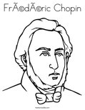 Frédéric Chopin Coloring Page