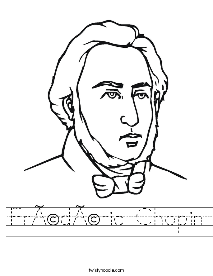 Frédéric Chopin Worksheet