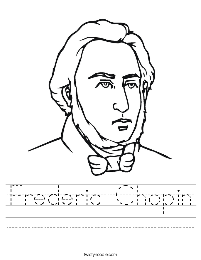 Frederic Chopin Worksheet