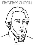 FRYDERYK CHOPIN Coloring Page
