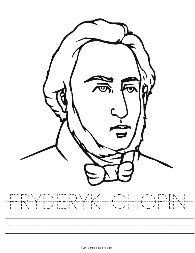 FRYDERYK CHOPIN Worksheet