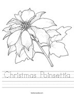 Christmas Poinsettia Handwriting Sheet