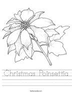 Christmas Poinsettia Handwriting Sheet