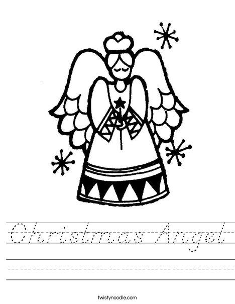 christmas angel worksheet d 39 nealian twisty noodle. Black Bedroom Furniture Sets. Home Design Ideas