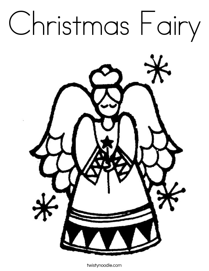christmas fairy coloring pages christmas fairy coloring page twisty noodle