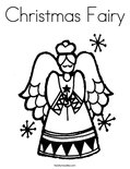 Christmas Fairy Coloring Page