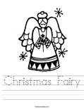 Christmas Fairy Worksheet
