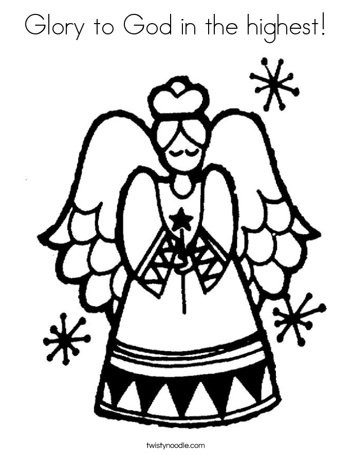 Glory to God in the highest! Coloring Page