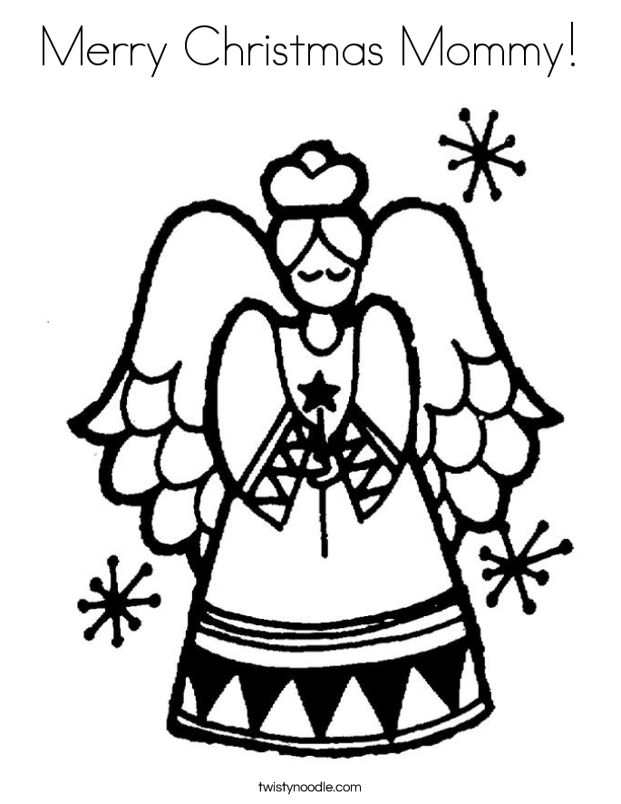 merry christmas mommy coloring page