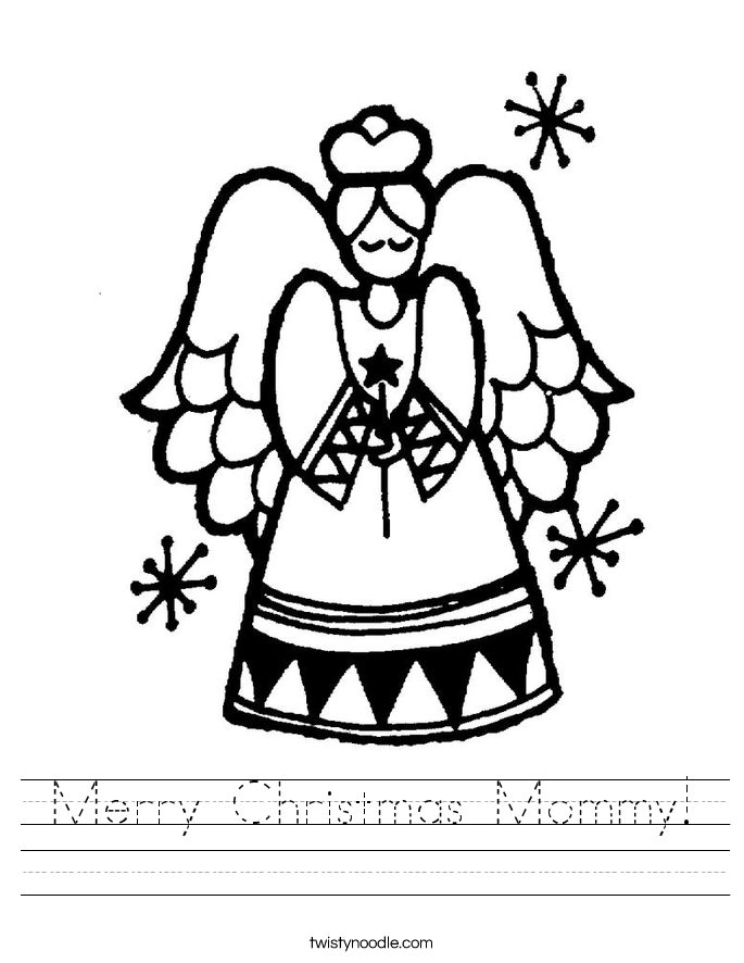 Merry Christmas Mommy! Worksheet