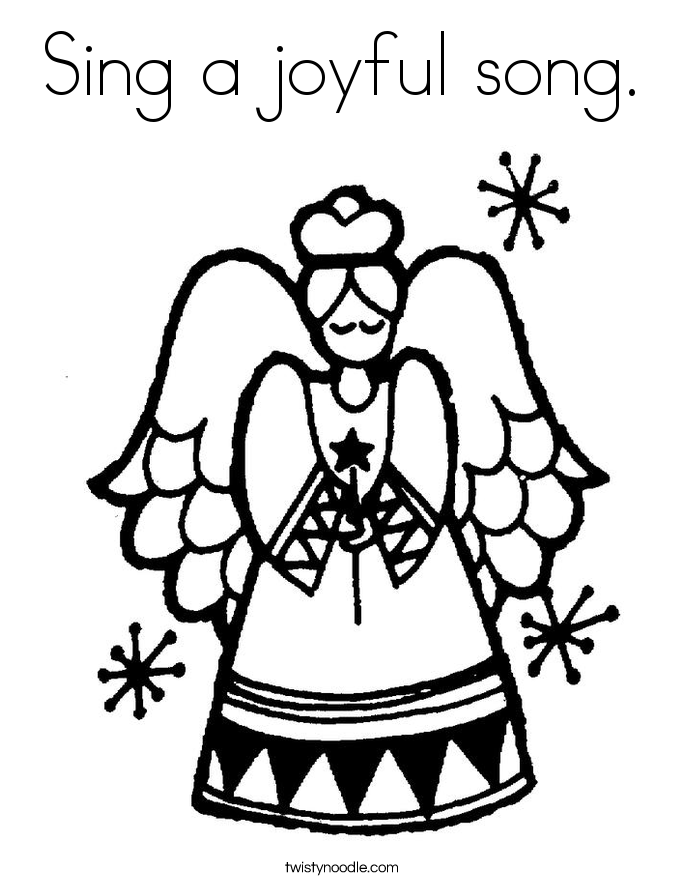 Sing a joyful song. Coloring Page