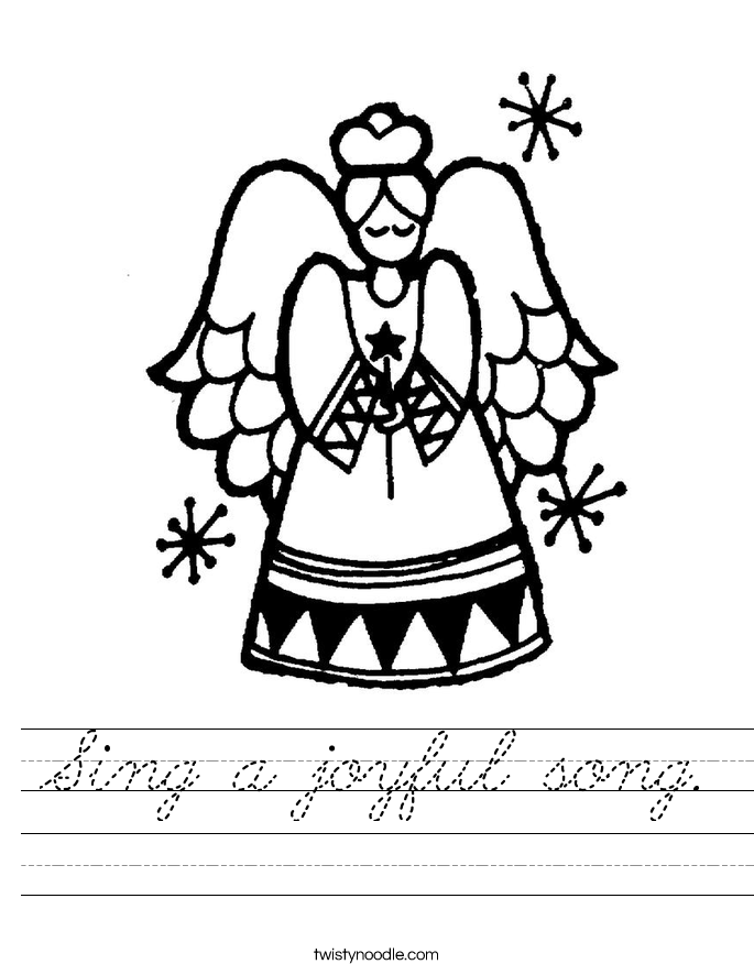Sing a joyful song. Worksheet