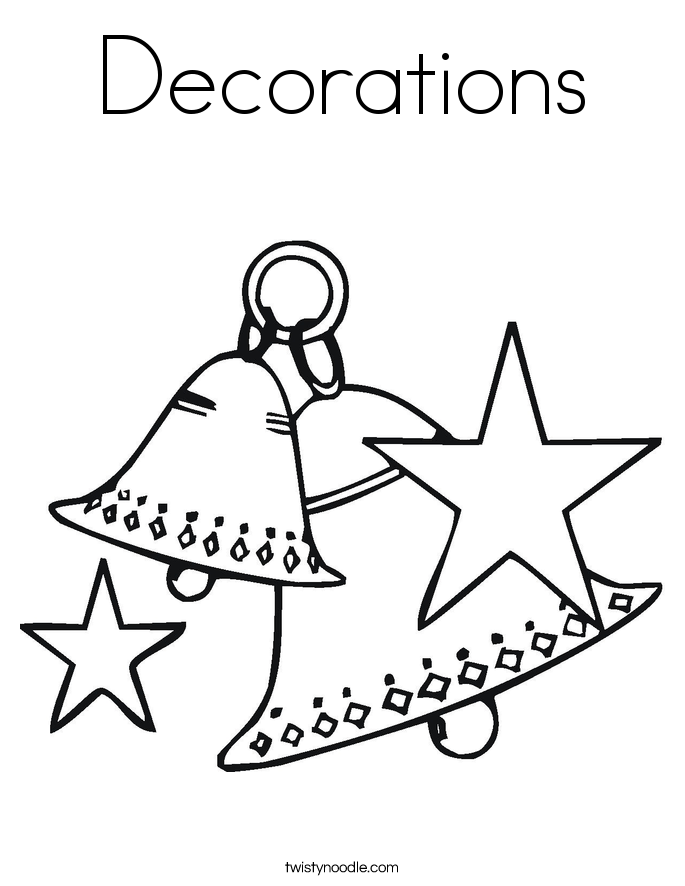 Decorations Coloring Page