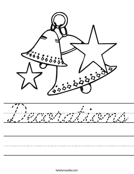 Christmas Bells Worksheet
