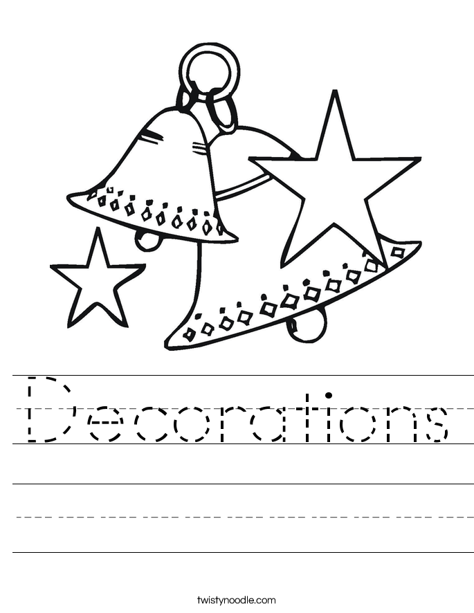 Decorations Worksheet