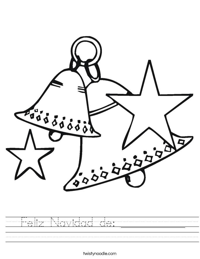 Feliz Navidad de: ___________ Worksheet
