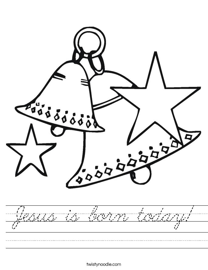 Jesus is born today! Worksheet