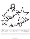 Jesus is born today! Worksheet