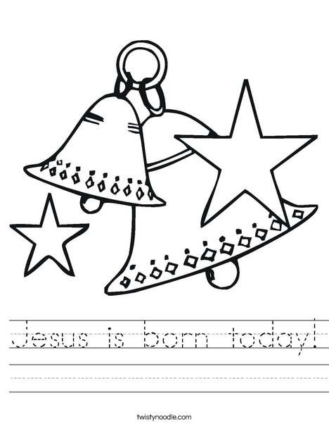 Christmas Jesus Birth Drawing.Jesus Is Born Today Worksheet Twisty Noodle