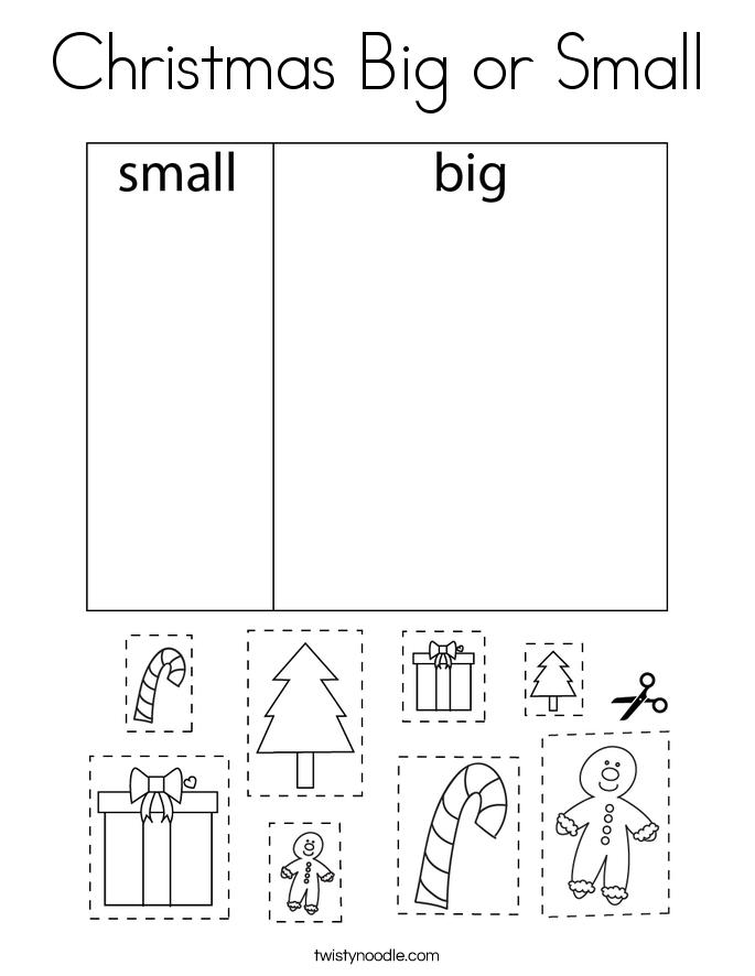 Christmas Big or Small Coloring Page