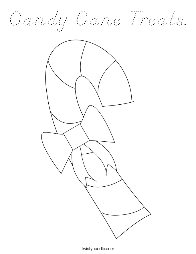 Candy Cane Treats. Coloring Page