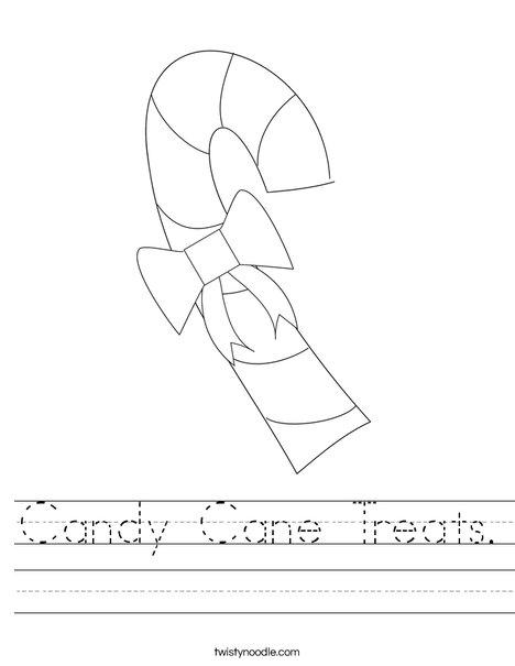 Candy Cane Treats Worksheet - Twisty Noodle