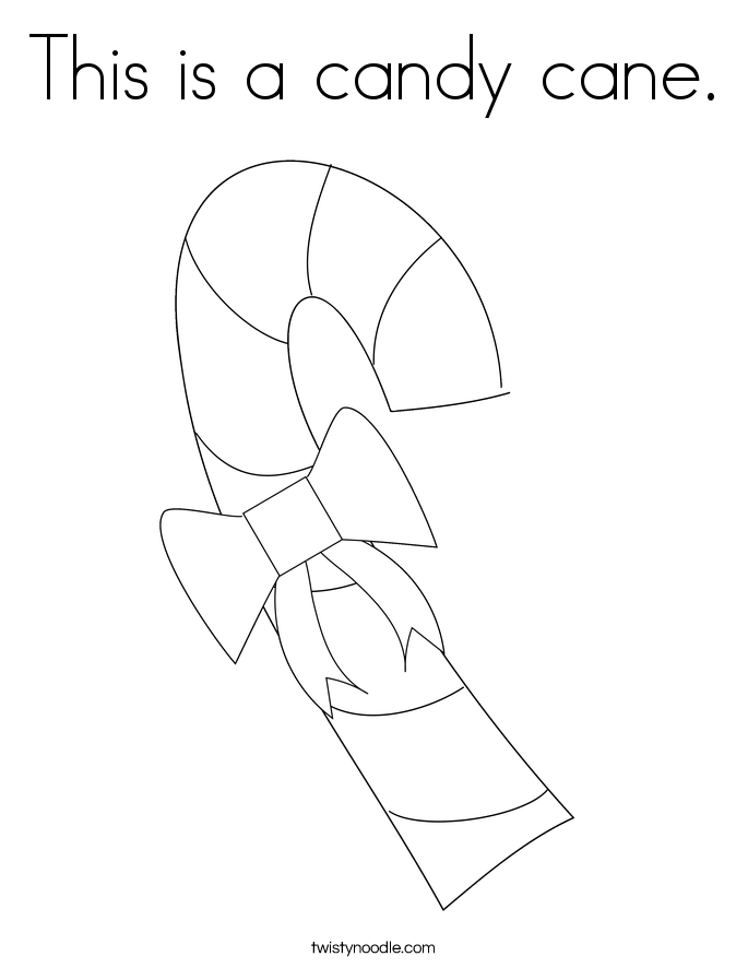 This is a candy cane. Coloring Page