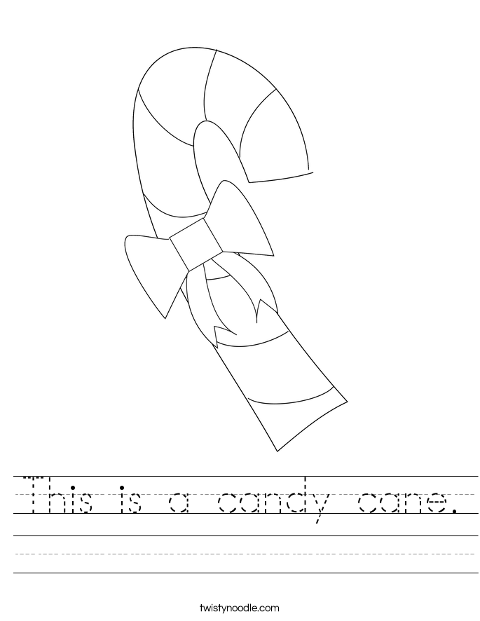This is a candy cane. Worksheet
