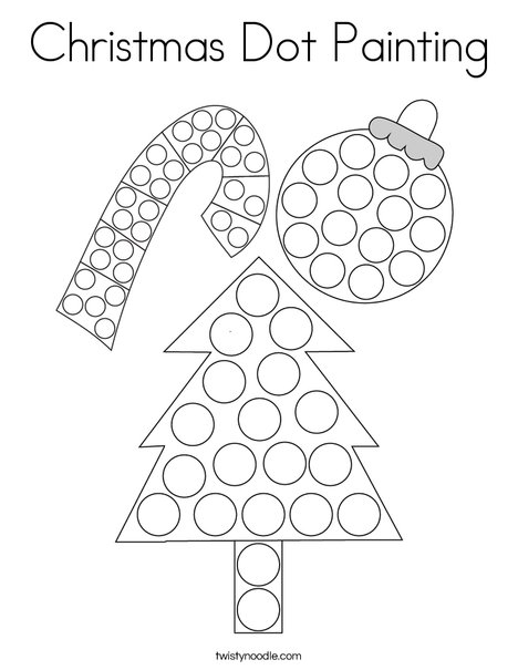 Christmas Dot Painting Coloring Page