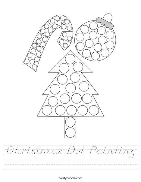Christmas Dot Painting Worksheet