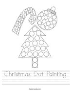 Christmas Dot Painting Handwriting Sheet