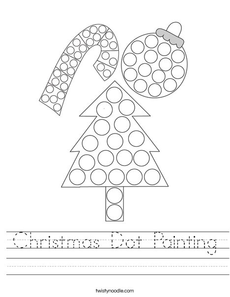 Christmas Dot Painting Worksheet