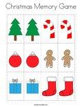 Christmas Memory Game Coloring Page