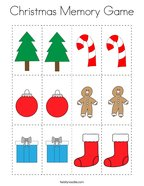 Christmas Memory Game Coloring Page