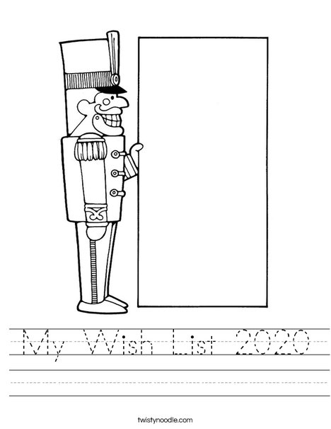 Christmas Nutcracker Worksheet