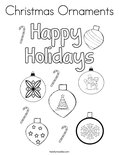 Christmas Ornaments Coloring Page - Twisty Noodle