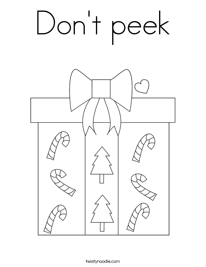 Don\'t peek Coloring Page - Twisty Noodle