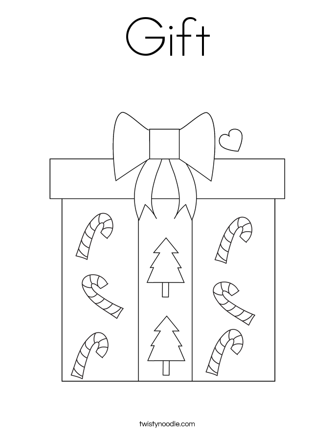 Gift coloring page twisty noodle gift coloring page negle Choice Image