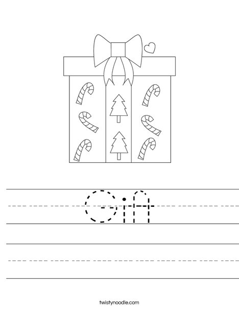 Christmas gift worksheet