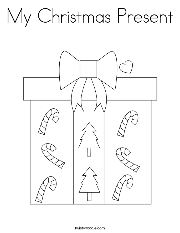 My Christmas Present Coloring Page