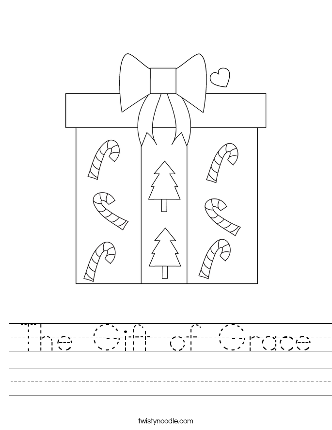 The Gift of Grace Worksheet